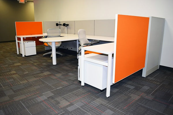 "Knoll Dividends Cubicle Used 7'x6.5'x50""H"
