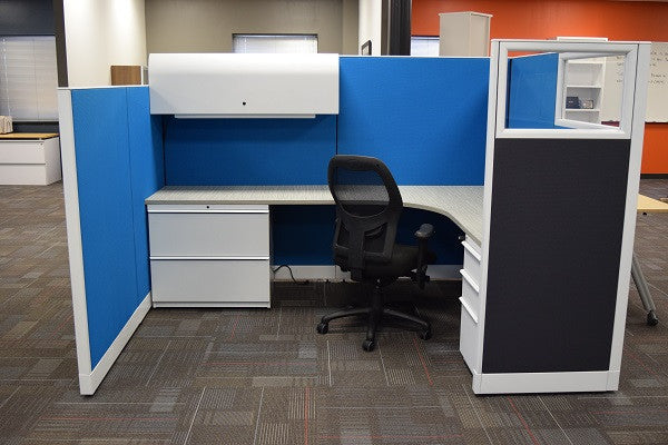 "Knoll Morrison Cubicle Re manufactured 8.5'x6.5'x64""H"