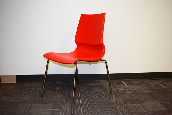 Knoll Red GIGI Stack Chair