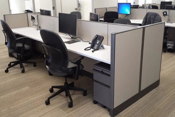 "Knoll Morrison Cubicle Used 6'x2'x42""H"