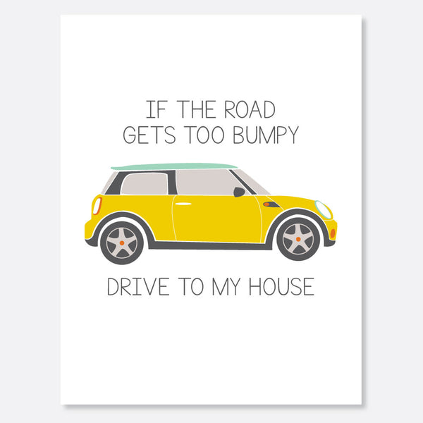 Bumpy Road Card