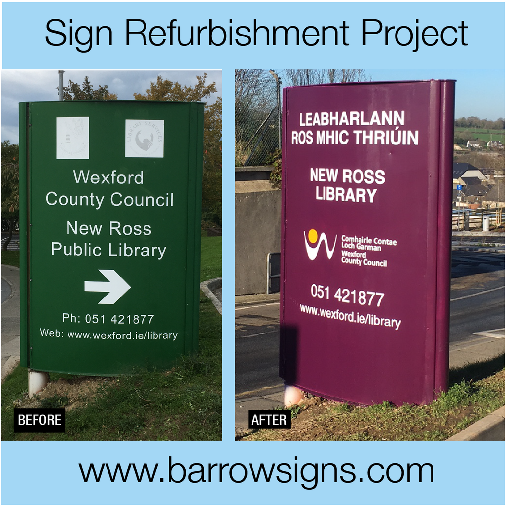 Wexford Libraries sign refurbishment