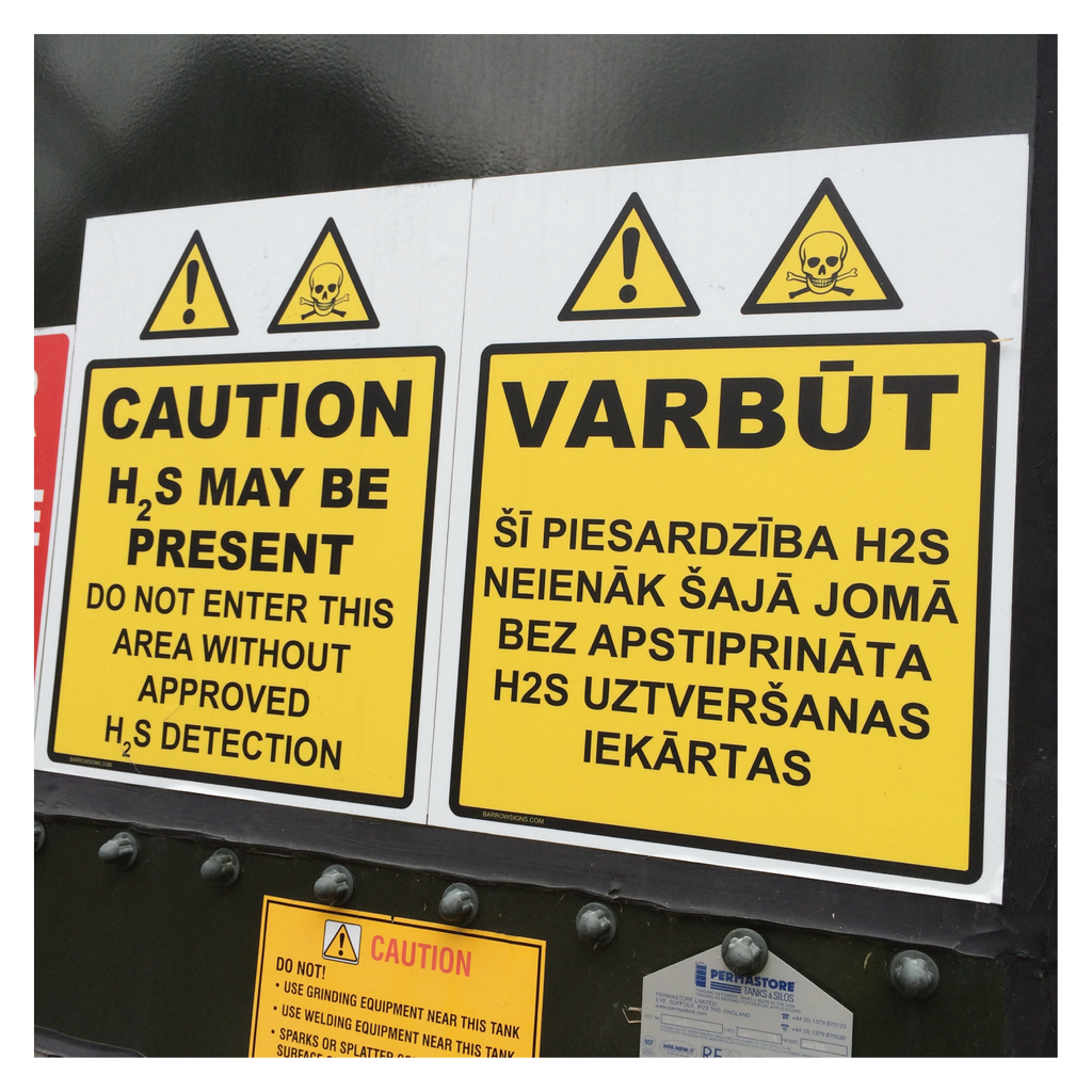 Foreign Language Safety Signs