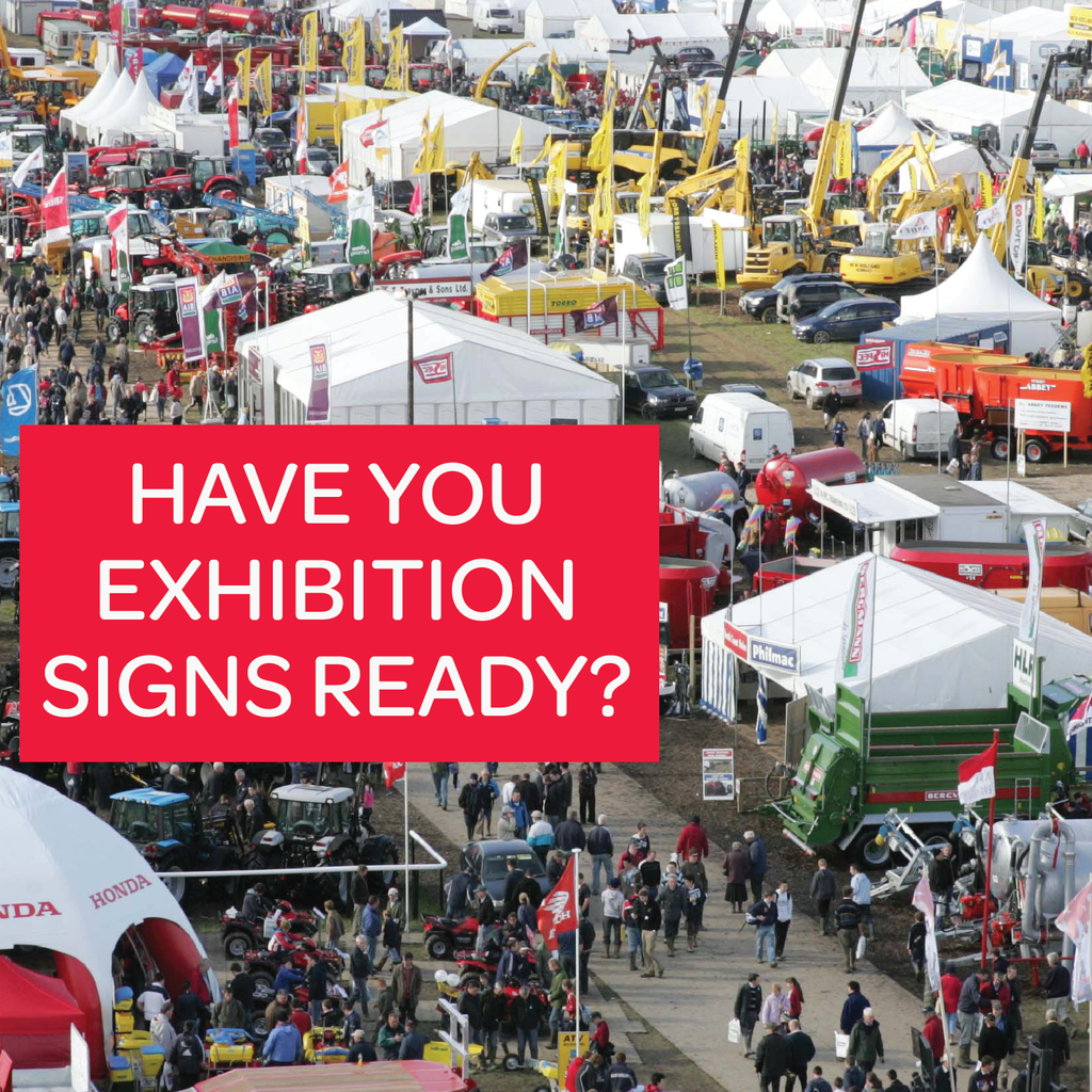 Don't leave it late to organise your signs and printing for this years Ploughing Championships!