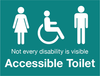 Accessible Toilet Sign by Barrow Signs Ireland (TEAL)