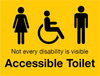 Accessible Toilet Sign by Barrow Signs Ireland (YELLOW)
