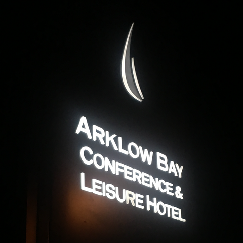 LED illuminated signage at the Arklow Bay Hotel in Co. Wickow, installed by Barrow Signs Gorey, Co. Wexford. They make and install signs all over Ireland