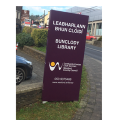Bunclody Library Sign following refurbishment by Barrow Signs - December 2016