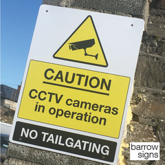 CCTV signage installed in Car Park by www.barrowsigns.com a quality Irish sign maker based in Wexford