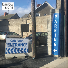 Signage directing the public to a car park entrance by www.barrowsigns.com