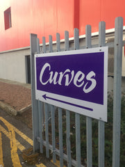 curves gym internal and external signage made by barrow signs wexford, gorey, dublin, galway