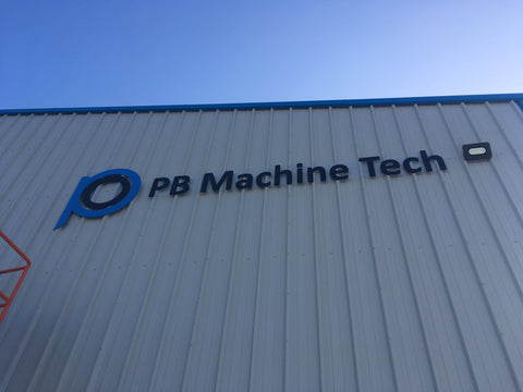 PB Machine Tech Signage in Bagenelstown made and fitted by Barrow Signs Wexford