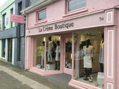 Shop front signage and projecting sign for La Creme Boutique in Gorey, by Barrow Signs