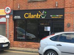 New timberwork and signage at Cilantro Restaurant, Market Square, Gorey by Barrow Signs