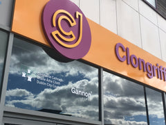 Clongriffin Junction Signage made by Barrow Signs on Aluminum and Foamex raised lettering