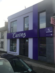 curves gym internal and external signage made by barrow signs wexford, gorey, dublin