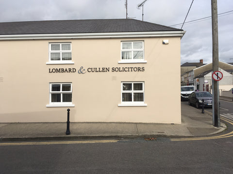 Signage at Lombard and Cullen's Office at Gorey, Co. Wexford installed by Barrow Signs