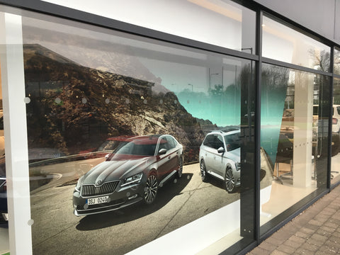 Wall Graphics at Donohoe Skoda by Barrow Signs