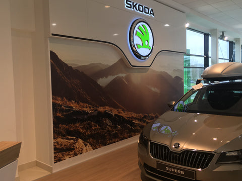 New graphic installed on Skoda Communication Wall by Barrow Signs