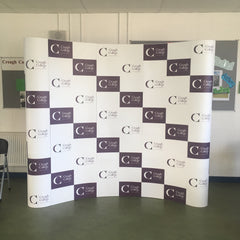 Pop-Up Display wall by barrow signs