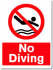 swimming pool signage made by barrow signs