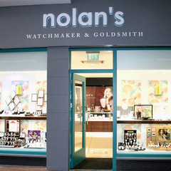 Illuminated Shop Front Lettering at Nolans Jewellers Kilkenny by Barrow Signs