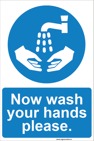 WASH YOUR HANDS sign for sale at www.signsonline.ie