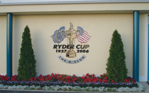 Ryder Cup 2006 sign at the K-Club, manufactured and fitted by Barrow Signs