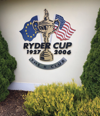 Ryder Cup 2006 sign at the K-Club, manufactured and fitted by Barrow Signs taken 2018