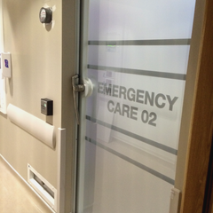 Window Manifestations applied to internal doors at Holles Street Maternity Hospital by Barrow Signs