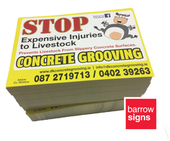 A4 Printed flyers for sale at www.barrowsigns.com