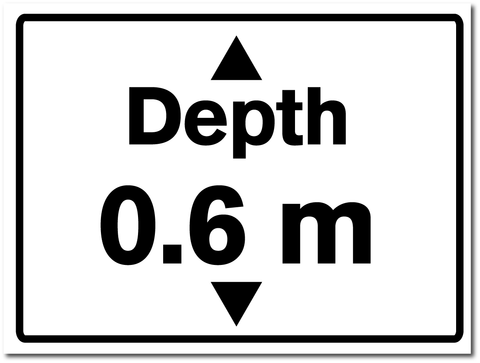 Water Depth Sign 0.6 metres