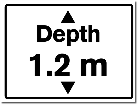 Water Depth Sign 1.2 metres