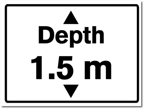 Water Depth Sign 1.5 metres