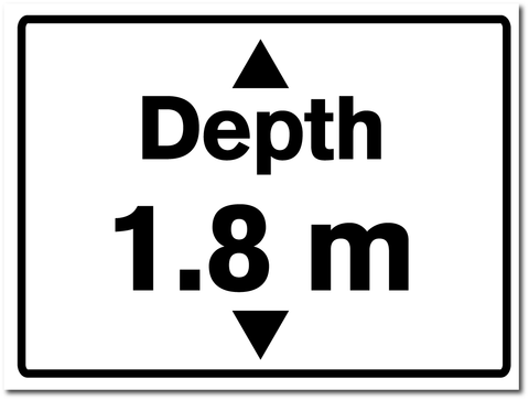 Water Depth Sign 1.8 metres