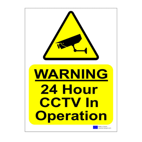 CCTV warning sign from barrowsigns.com