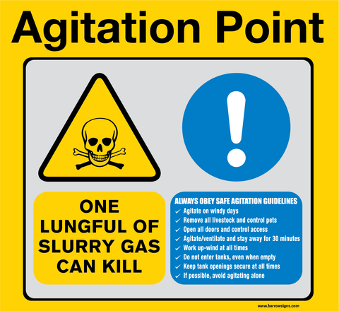 Agitation Point Sign with Slurry Gas Warning