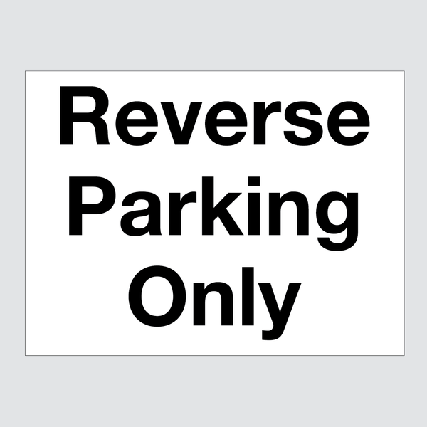 Reverse Parking Sign Blue White
