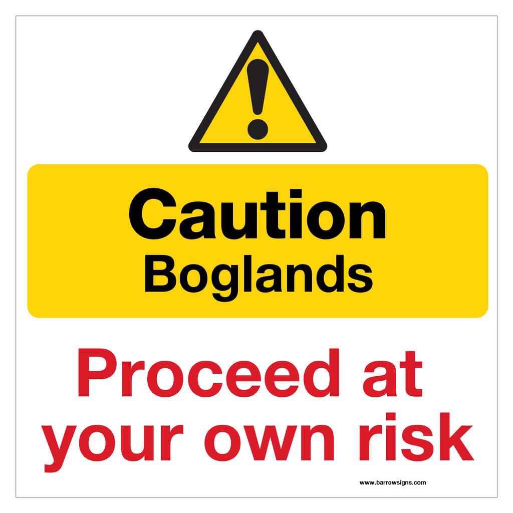 Caution Boglands - Proceed at your own risk