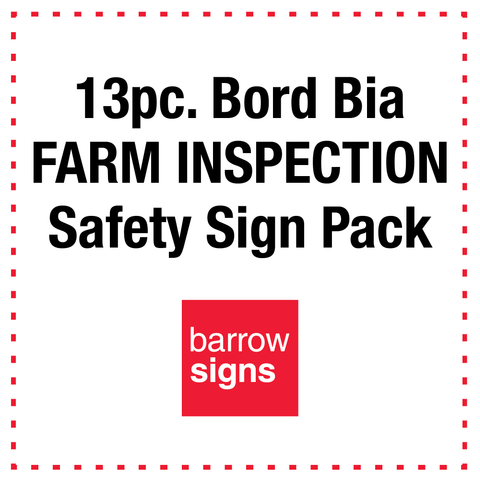 13pc Bord Bia Farm Inspection Safety Sign Pack from www.barrowsigns.com