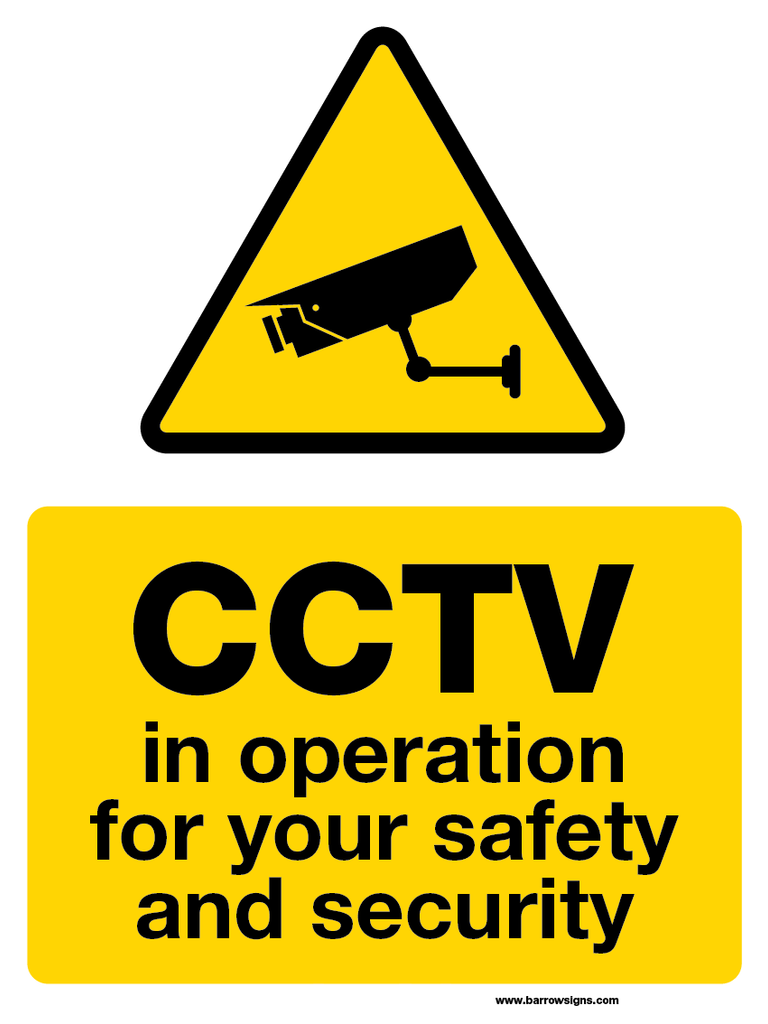 CCTV in operation for your safety and security