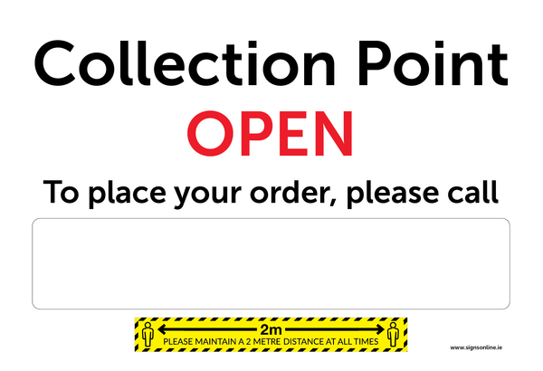 Collection Point Sign for retail outlets