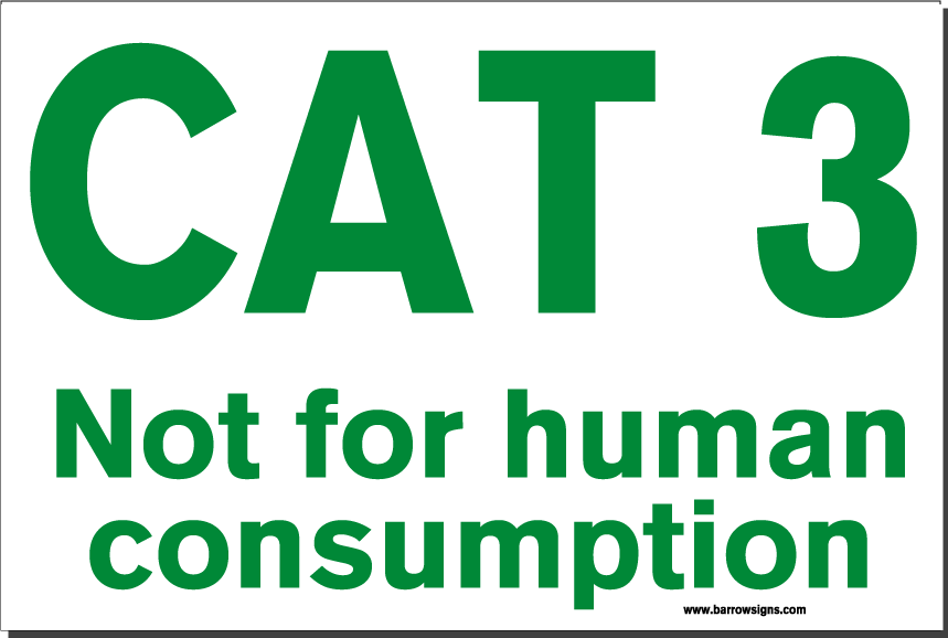CAT 3 SIGN (Food Industry)