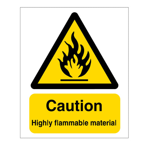 Caution Highly Flammable Material