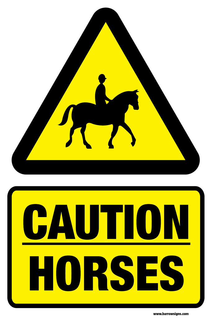 Caution Horses Sign (R16)