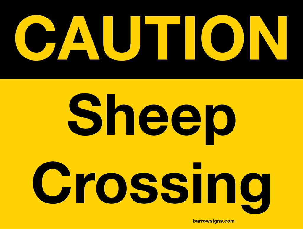 Caution Sheep Crossing