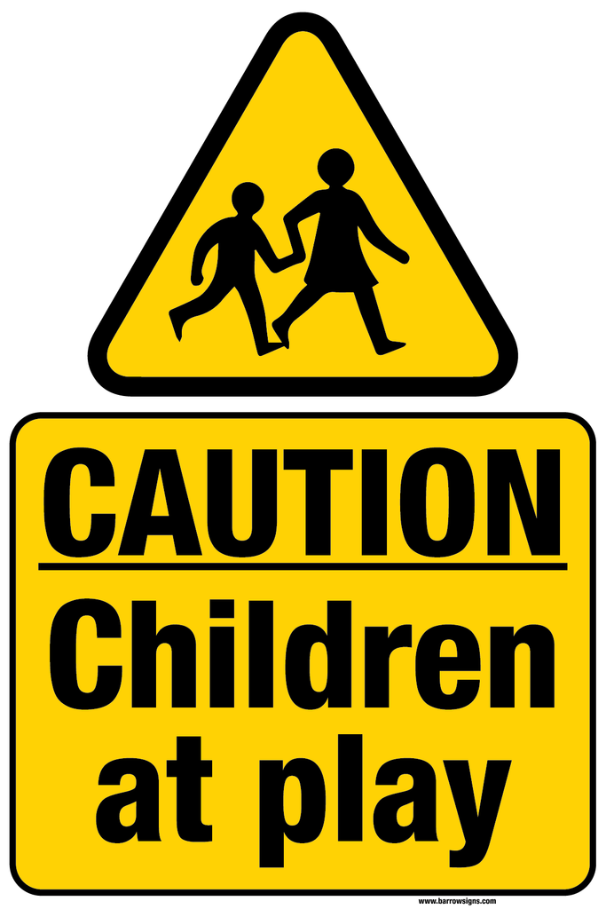 Children at Play warning sign by Barrow Signs. Ships to Ireland and UK