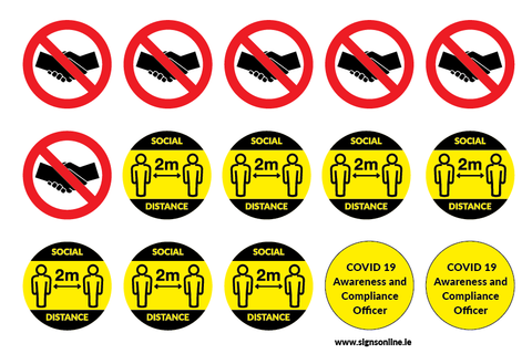 Covid 19 Safety Helmet Sticker Pack