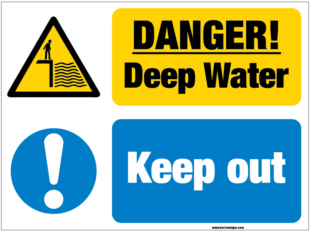Danger Deep Water Keep Out sign