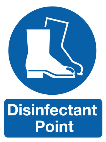 Disinfectant Point Sign